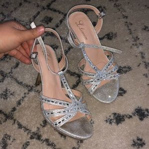 Sparkly Silver Party Heels